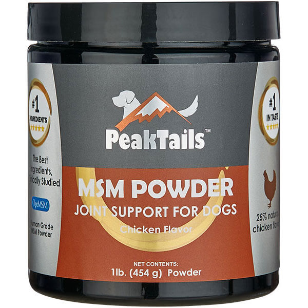 PeakTails MSM Powder for Dogs Chicken Flavoring
