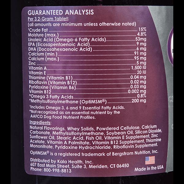 PeakTails Skin & Coat Ingredients