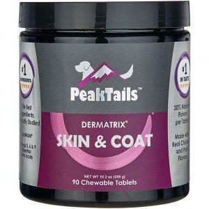 PeakTails Skin & Coat 90 Chewable Tablets