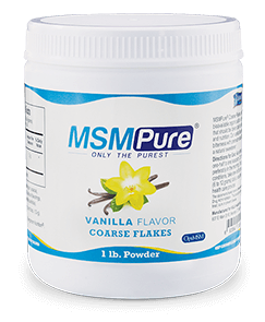 MSMPure Vanilla flavor Coarse MSM Flakes