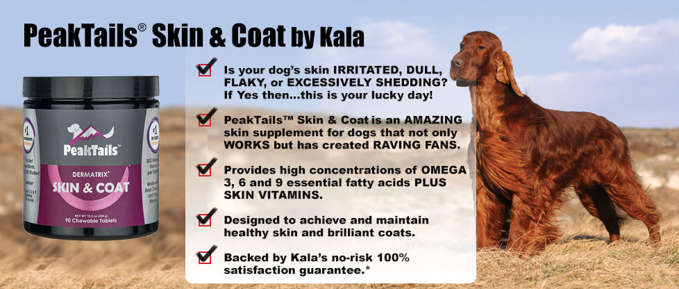 PeakTails Skin and Coat Supplement for Dogs
